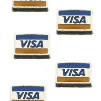 Mulit Color 5 Pcs Credit Card Floating Charm