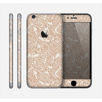 The Tan Abstract Vector Pattern Skin for the Apple iPhone 6