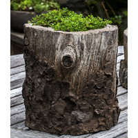 Campania Chestnut Planter in Natural Bark