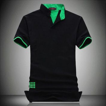 New 2014 fashion short sleeve polo shirt men polo COTTON camisa polo masculina man plus size 7XL 6XL 5XL 4XL XXXL XXL-M 3 colors
