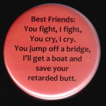 Best Friends Button by kohaku16 on Etsy