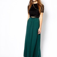New Look Jersey Maxi Skirt With Belt