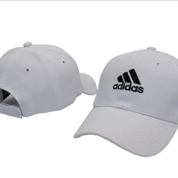 White ADIDAS Embroidered Baseball snapback cap