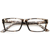 Modern Fashion Minimalist RX Optical Rectangle Clear Lens Glasses 9401
