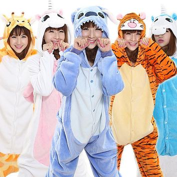 Women's Pajama Flannel Animal Onesuits