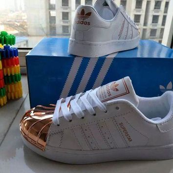 LNFNO Adidas Superstar' Fashion Casual Women Gold Shell Head Plate Shoes Sneakers