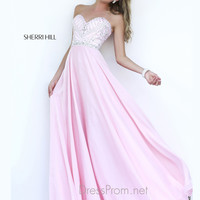 Strapless Sweetheart Formal Prom Gown By Sherri Hill 1944