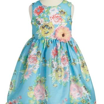Pippa & Julie Floral Print Fit & Flare Dress (Toddler Girls, Little Girls & Big Girls) | Nordstrom