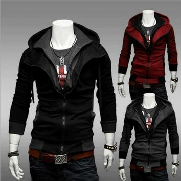 2018 New Fashion Men's Fleece Hoodies Men Jacket Tracksuits Pullover Mens Hoodies Sweatshirts Assassins Creed