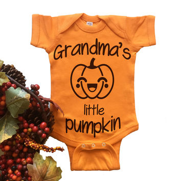 Grandma's Little Pumpkin Onesuit.