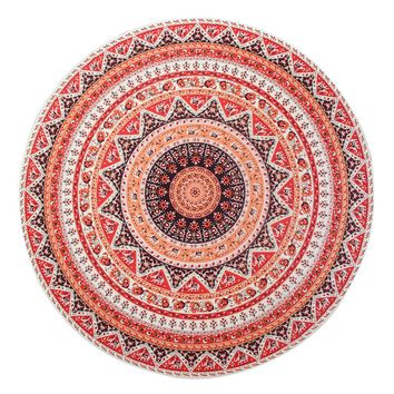Boho Beach Throw Tapestry Hippy Boho Gypsy Cotton Tablecloth Beach Towel , Round Yoga Mat 11595 147cm*147cm