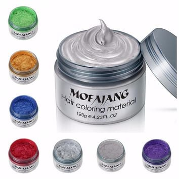 Styling Hair Coloring One-Time Hair Wax
