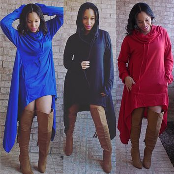 ~Oversized Cowl Neck Tunic or Dress - You Decide