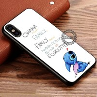 Ohana Means Family Lilo And Stitch Disney iPhone X 8 7 Plus 6s Cases Samsung Galaxy S8 Plus S7 edge NOTE 8 Covers #iphoneX #SamsungS8