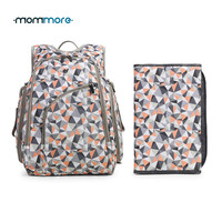 mommore Diaper Backpack Fully-opened Baby Diaper Bag with Changing Pad Baby Diaper Backpacks Nappy Bags Multifunctional Changing