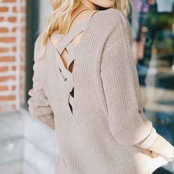 'Jolee' Strappy Back Sweater