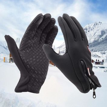 Men's Classic Black Winter Leather Gloves Hot Driving TouchScreen Gloves Women Male Military Army Guantes Luvas De Inverno Glove