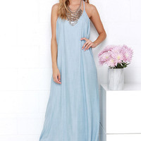 Heritage Blue Chambray Maxi Dress