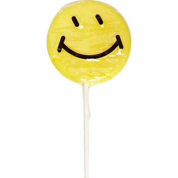 Smiley face lollipop