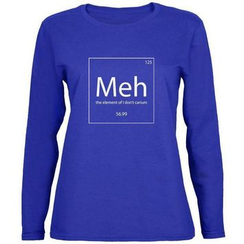 ESBGQ9 Meh Periodic Table Womens Long Sleeve T Shirt