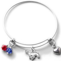 Southern Methodist University Mustangs Bangle Bracelet