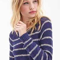 FOREVER 21 Striped Raglan Sweater