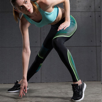 Yoga Pants High Waist Stretched Sports Pants  Spandex Running Tights Women Sports Leggings Fitness