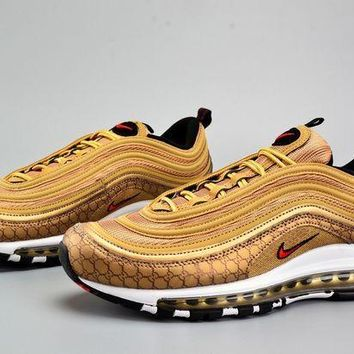 PEAPONVX Jacklish Custom Nike Air Max 97 Og Qs Metallic Gold For Sale