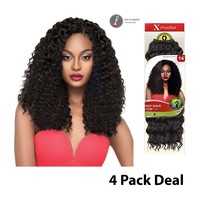"""OUTRE X-PRESSION CROCHET BRAID - DEEP WAVE LOOP 14"""" -  4 PACK DEAL"""