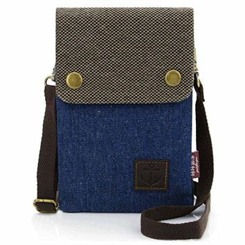 UTIMES Womens Small Canvas Crossbody Purse 6 inch Cell Phone Bag With Shoulder Strap