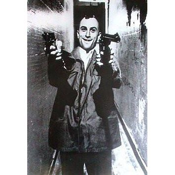 TAXI DRIVER MOVIE POSTER Robert De Niro Guns Scene NEW