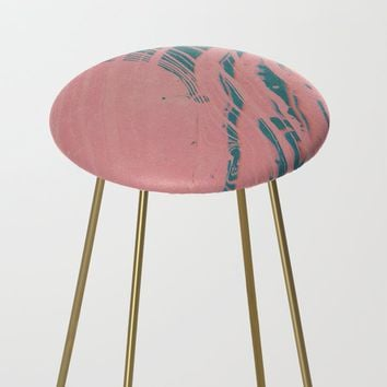 Suminagashi - shadow self Counter Stool by duckyb