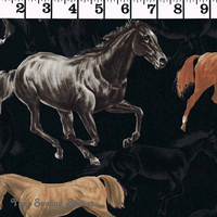 Wild Horses Fabric - Exclusively Quilters