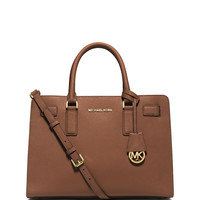 Michael Michael Kors Dillon East-West Saffiano Satchel Bag, Luggage LAVELIQ