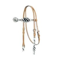 Alamo Scalloped Zebra Browband Headstall