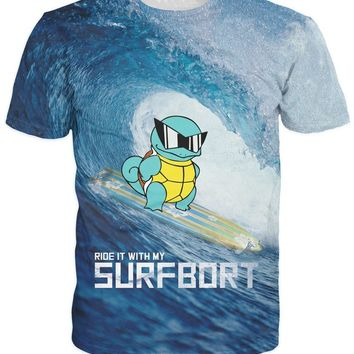 d2eedbfc8 Ride It With My Squirtle T-Shirt Character surfbort Sexy Women