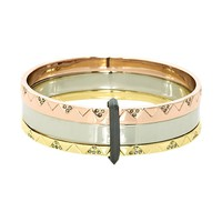 House of Harlow 1960 Jewelry Santorini Stack Bangle Set
