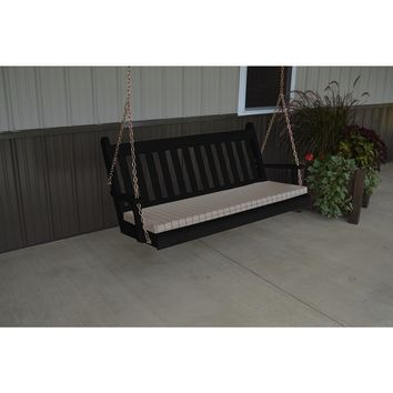 A & L Furniture Co. Yellow Pine 5' Traditional English Swing  - Ships FREE in 5-7 Business days