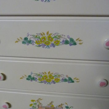 Hand Painted Little Girl's Chest of Drawers