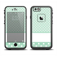 The Vintage Light Green Polka Dot With White Strip copy Apple iPhone 6 LifeProof Fre Case Skin Set