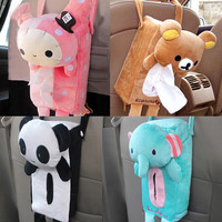 V1NF Cute Rabbit Bear Home Office Car Tissue Box Cover Holder Paper Box Free Shipping
