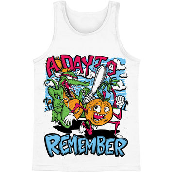 A Day To Remember Men's  Orange You Glad Mens Tank White Rockabilia