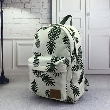 Creative Pineapple Rucksack Backpack School College Bag Travel Bag