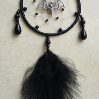 Gothic BAT Black MINI Dreamcatcher Christmas Present Goth Gift Car Mirror Charm