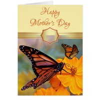 Custom Butterfly Mother's Day Card