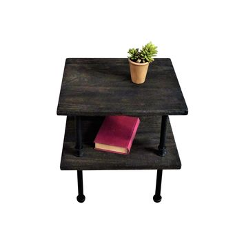 Corvallis Industrial Chic Side Table