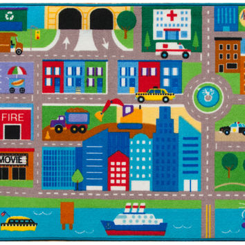 Olive Kids Cityscape Play Rug - 697079