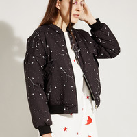Bomber Jacket Constellation Print