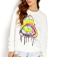 Neon Pop Shark Sweatshirt