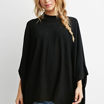 Mock Neck Poncho Top